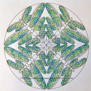 A Mandala Coloring in Progress