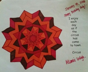 Circus Mandala - Coloring by Michelle
