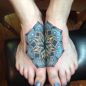 Feet Mandala from Sitting Bull Tattoo