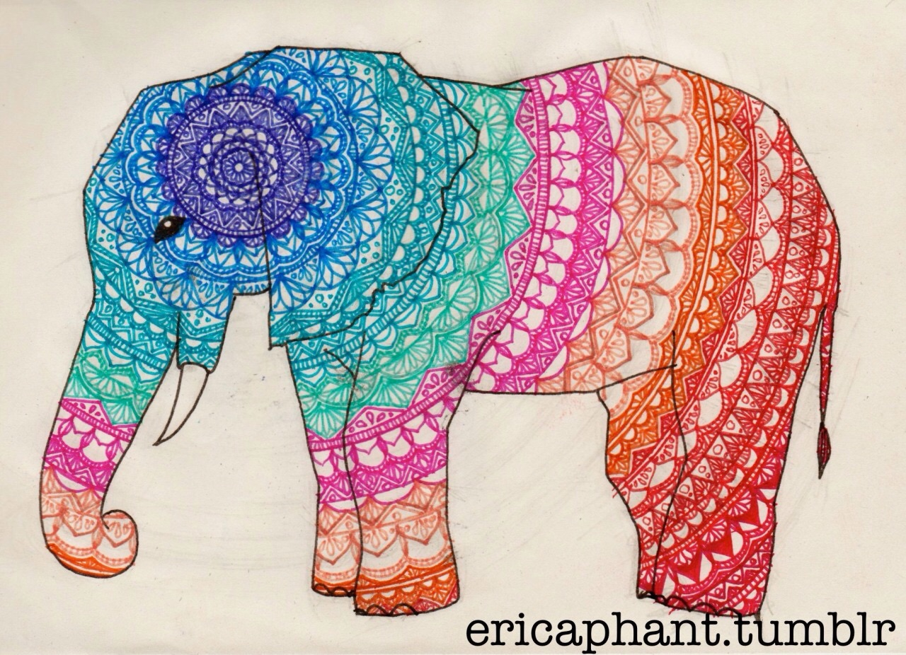27 – Elephant Mandala – Mandala of the Day