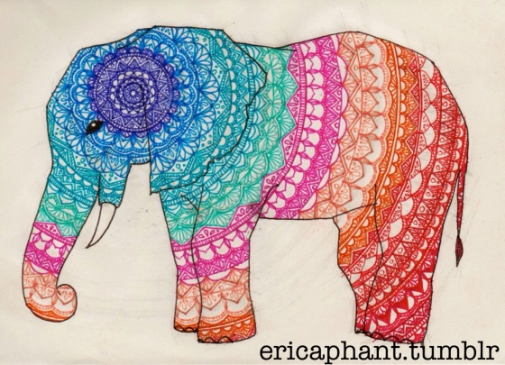 Elephant Mandala by ericaphant