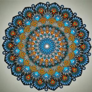 Blue/Orange Mandala by Nuflexphotomatik