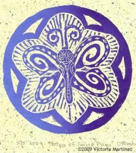 Butterfly Mandala by Victoria Martinez