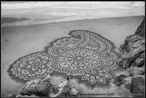 Beach Sand Mandala by Andres Amador