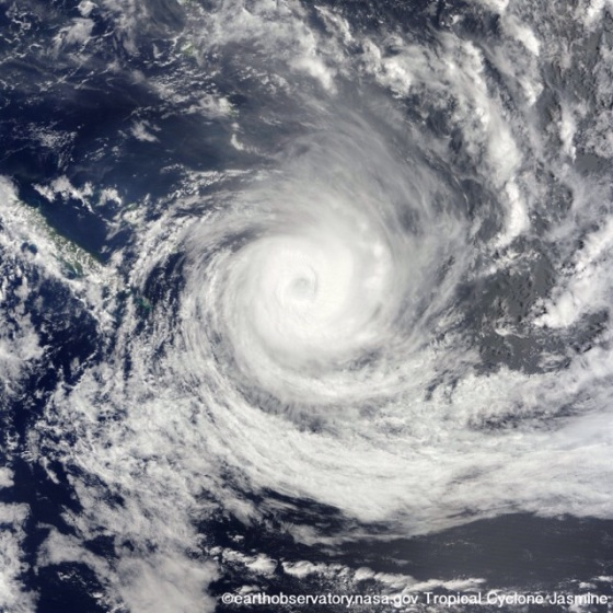 Cyclone Mandala - photo by EarthObservatory.NASA.gov