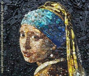 Girl with a Pearl Earring remade by Jane Perkins