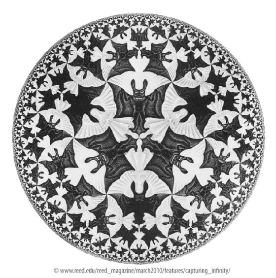 Angels and Devils by M.C. Escher