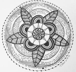 Words of Wisdom Mandala by Terra Lyn Stein