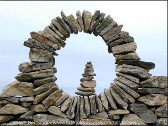Stone Mandala by Alain Bernegger