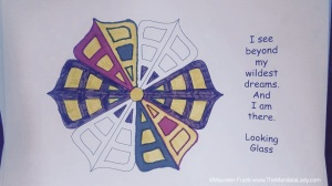 Butterfly Mandala - coloring by Michelle Miller