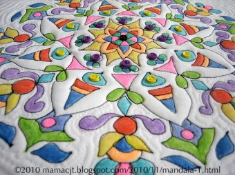 Crayon Quilt Mandala - closer view