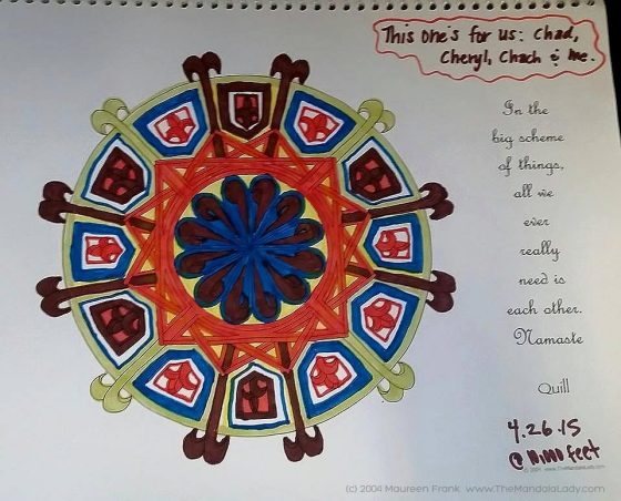 Quill Mandala - Coloring by Michelle
