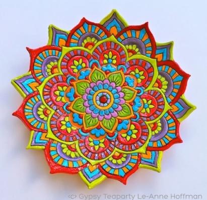 Gypsy Teaparty Mandala by Le-Anne Hoffman