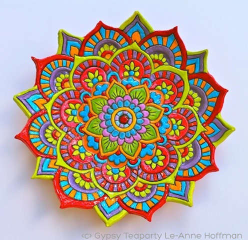 Gypsy Teaparty Mandala by Le-Anne Hoffman