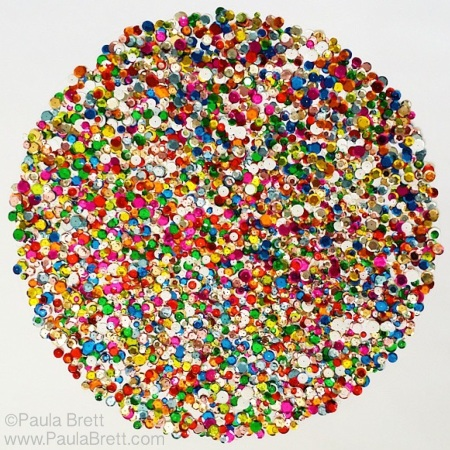 Sequins Mandala by Paula Brett