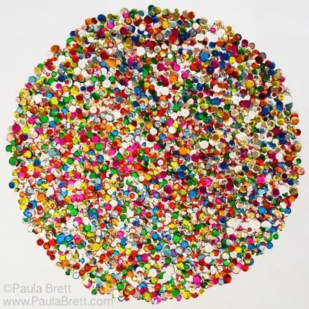 Sequins Mandala by Paula Brett