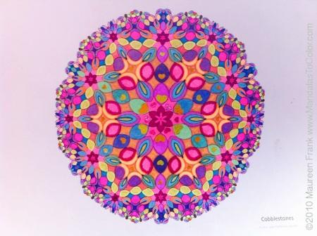 Cobblestones Mandala - coloring by Celia