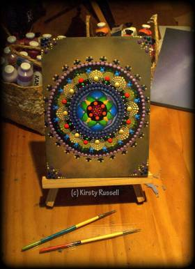 Kirsty Russell Mandala Painting