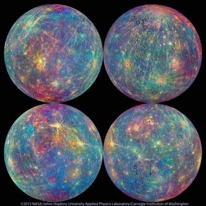 Mercury Mandala - Image by NASA/Johns Hopkins University Applied Physics Laboratory/Carnegie Institution of Washington