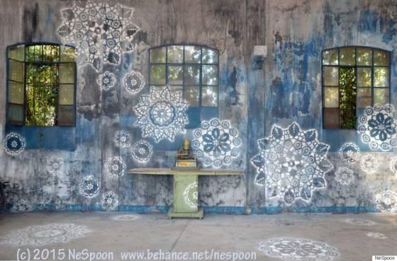 Mandala Graffiti by NeSpoon
