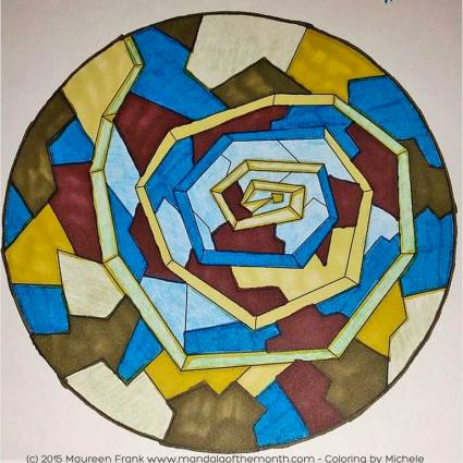Boundaries Mandala - Coloring by Michelle