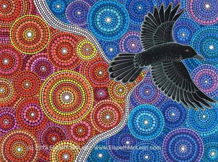 """Raven Bringing in the Light"" by Elspeth McLean"