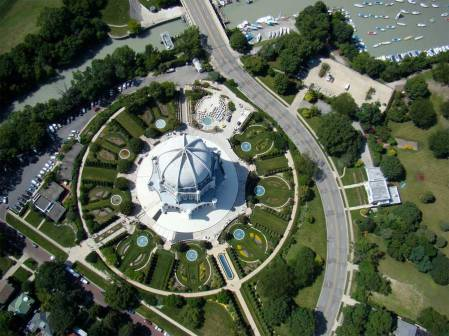 Bahai House of Worship in Wilmette, IL