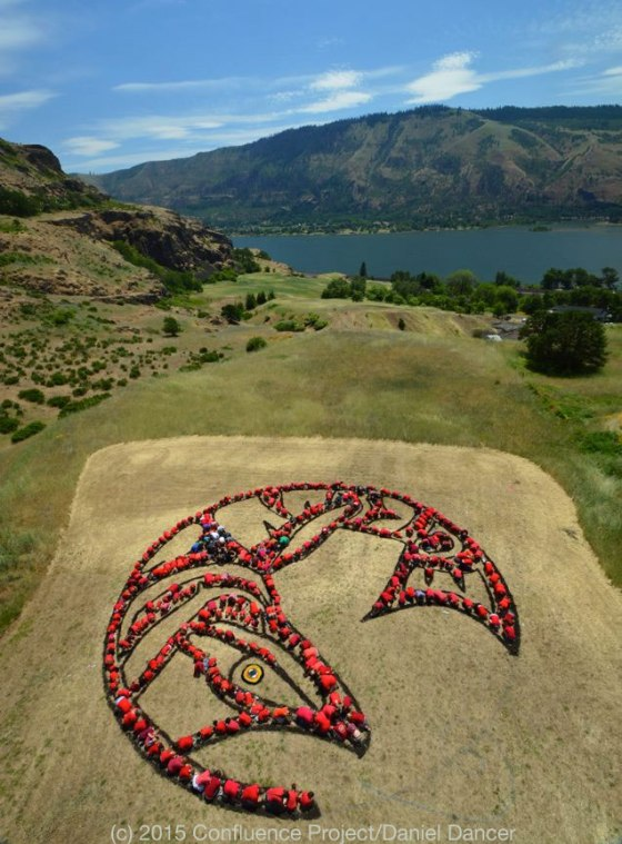 Salmon Mandala by the Confluence Project