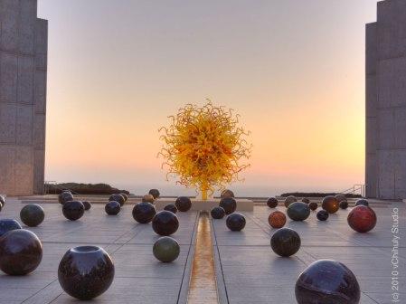 The Sun and Black Niijima Floats, 2010, Salk Institute for Biological Studies, La Jolla, California