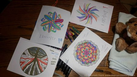 Coloring Bee  Mandala - colorings by Nick, Michelle, Jeffrey, and William
