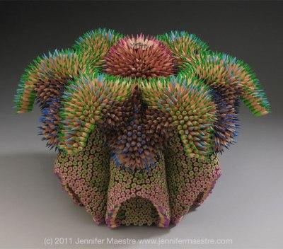 Side View - Cycad Mandala by Jennifer Maestre