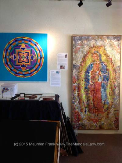 My Mandala next to Our Lady of Guadalupe