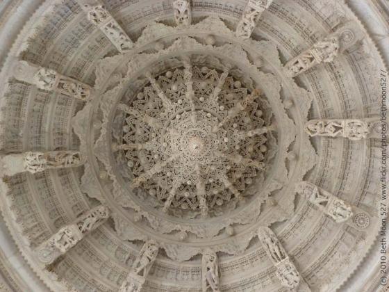 Adinatha Jain Temple Ceiling - Photo by Beth Moon 527
