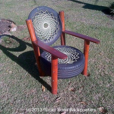 Tyre Chair by Rocky Road Backpacers