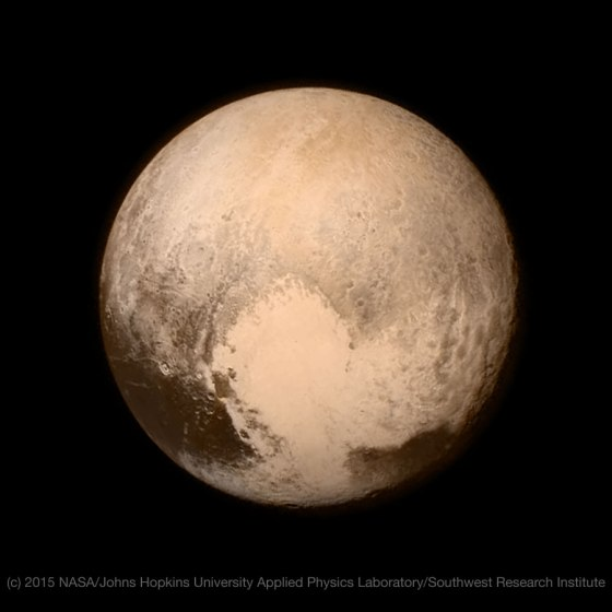 Pluto's Heart - Image credit: NASA/Johns Hopkins University Applied Physics Laboratory/Southwest Research Institute
