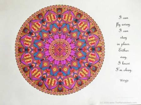 Wings Mandala - Coloring by Celia