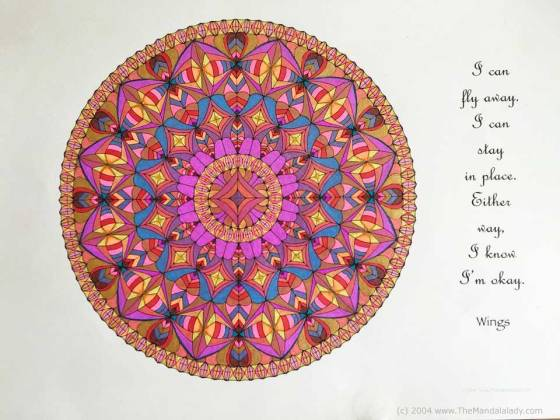 Wings Mandala - Coloring by Celia