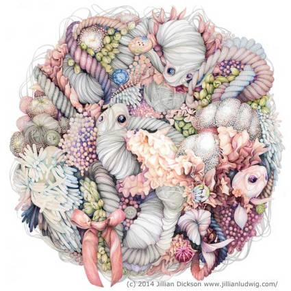 Growing Wreath by Jillian Dickson Ludwig