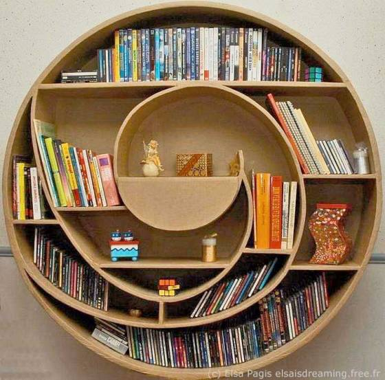 Spiral Bookcase by Elsa Pagis