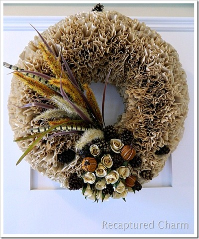 Fall Wreath by RecapturedCharm.com
