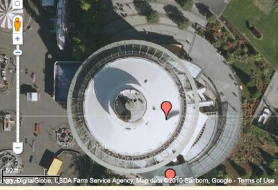google map of space needle