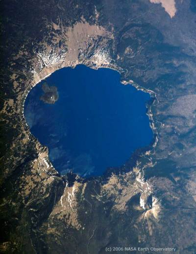 Crater Lake by NASA Earth Observatory