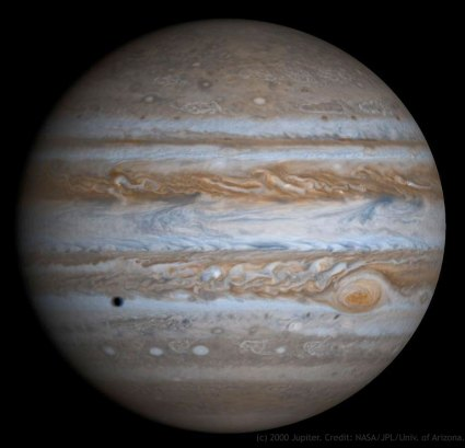 Jupiter with Europa's shadow by NASA
