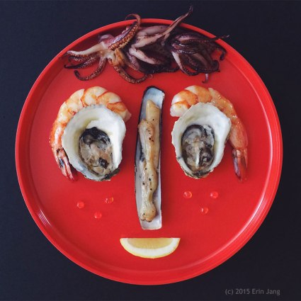 Fishy Food Face - photograph by Erin Jang