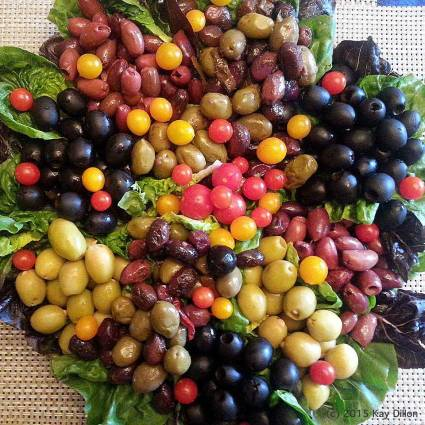 Olives and Tomatoes - photo by Kay Dillon