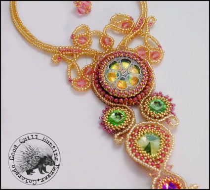Soutache Pendant by Good Quill Hunting