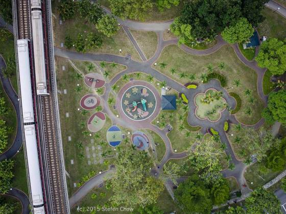 Playground in Singapore - photograph by Stefen Chow