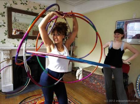 Marawa and her Hula-Hoops