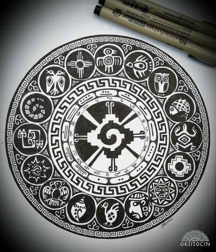 Incan Mayan Mandala by Oksana Stepanova - OKSITOCIN
