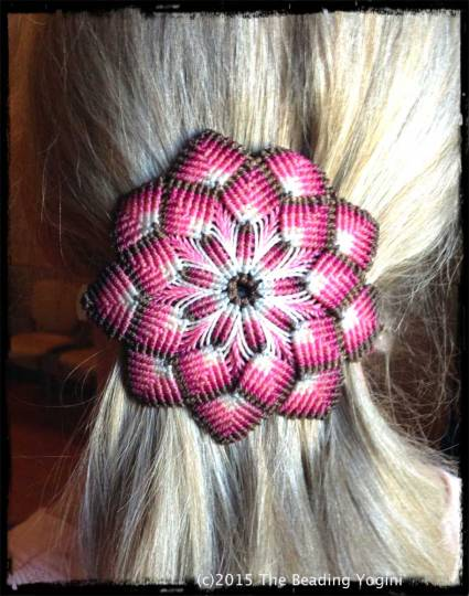 Macrame Barrette by The Beading Yogini